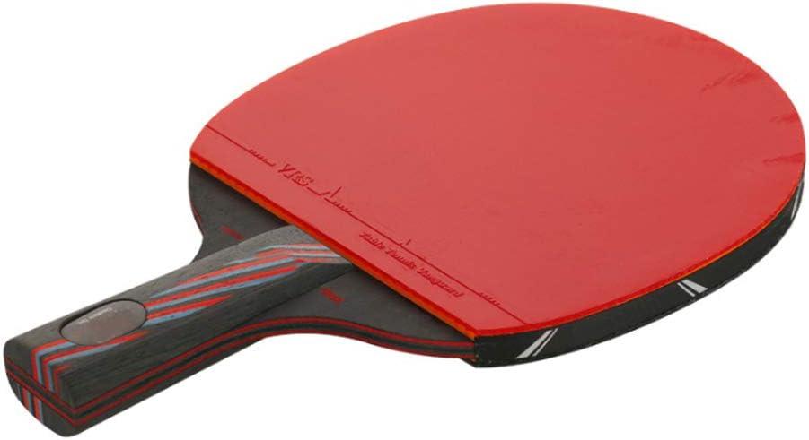 Mintice Raqueta de Ping Pong Tenis de Mesa Profesional Paleta Ping Pong Juego de Palo Bate con 3 Pelotas y Estuche Hoja de Madera de 9 Capas y Hoja de Carbono de 8 Capas
