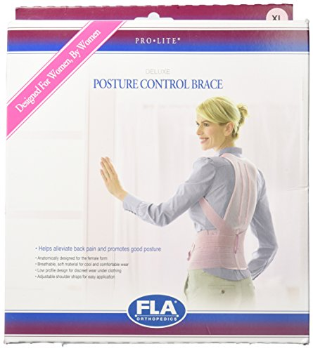 (FLA Orthopedics Posture Control Brace for Women, Rose, X-Large)