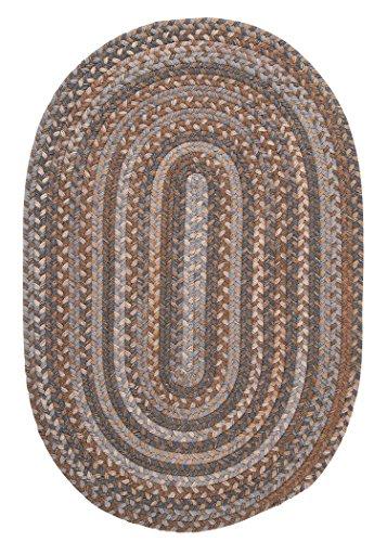 Oak Harbour Braided Rug, 10 by 13-Feet, Graphite