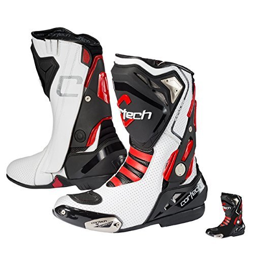 Cortech Impulse Air RR Men's Riding On-Road Motorcycle Boots - White/Red / Size 12 by Cortech