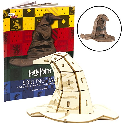Harry Potter Sorting Hat Book and 3D Wood Model Kit - Build, Paint and Collect Your Own Wooden Model - Great for Kids and Adults, 10+ - 4