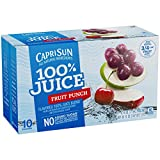 Capri Sun 100% Juice Blend, Fruit Punch, 10 Pouches (Pack of 4)