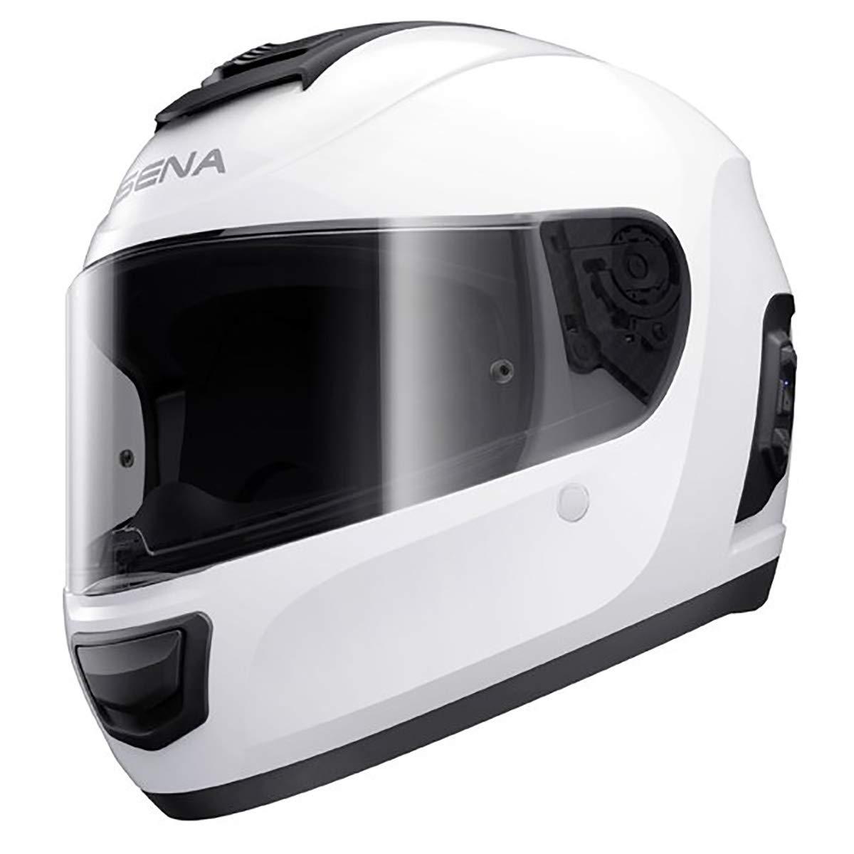 Sena Unisex-Adult MO-STD-GW-XL-01 Momentum Full Face Glossy White XL, X-Large