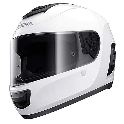a06cd038 Amazon.com: Sena Momentum Dual Bluetooth Helmet, Glossy White, Large:  Automotive
