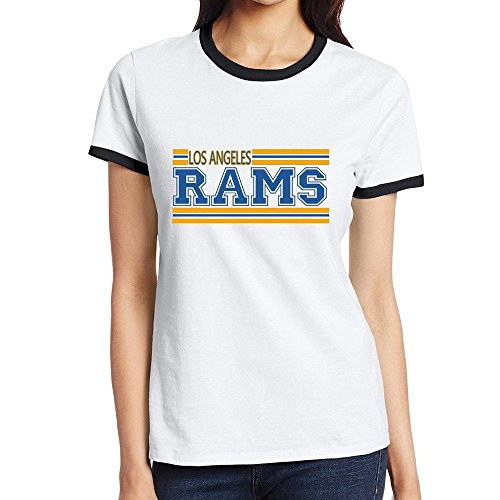 [Custom Women's Particular Two-toned Tshirt Los Angeles LA RAMS Black Size XXL] (Custom Costumes Makers Los Angeles)