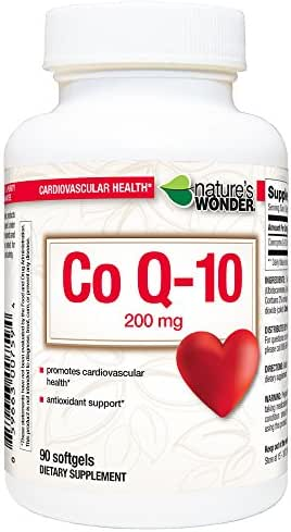 Nature's Wonder COQ10 200mg Nutritional Supplement, 90 Count