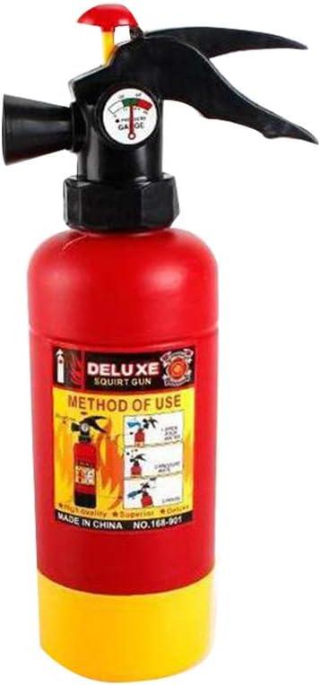 NUOBESTY Extintor de Incendios Juguete de Chorro Pistola de Agua Realista Juguete de Control de Fuego para Niños Niños Bombero Cos Accesorio de Juego de Roles Al Aire Libre