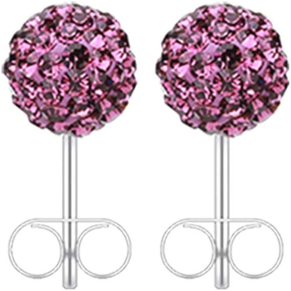 20G Tanzanite Multi-Sprinkle Dot Multi Gem Ball Inspiration Dezigns Ear Stud Earrings