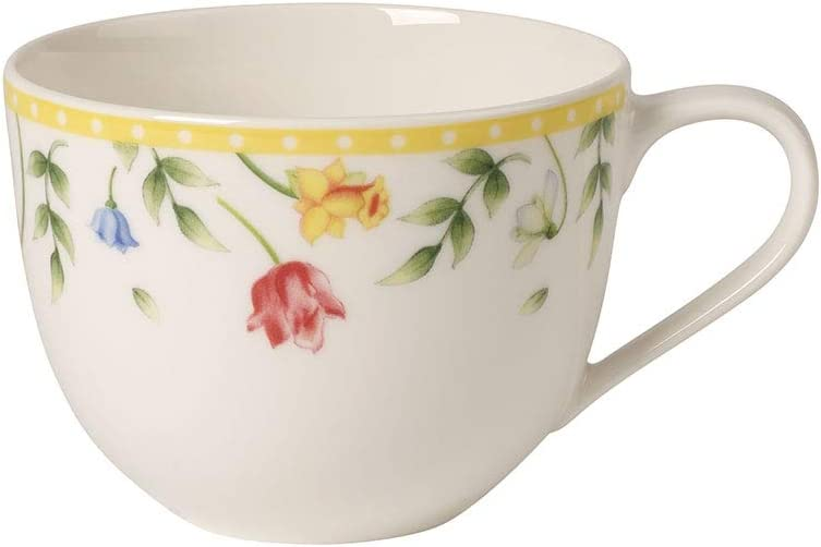 Villeroy & Boch Spring Awakening Coffee Cup, 230 ml, Premium Porcelain, Yellow/Multicolour