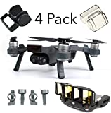 DJI Spark Accessories Set Bundle Combo Lens Cap Hood Sun Shade Camera Cover Protector Landing Gear Antenna Range Booster By FSLabs (4 pack)