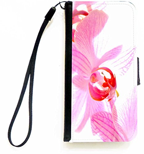 Rikki Knight Pink Orchid Design PU Leather Wallet Type Flip Case with Magnetic Flap and Wristlet for Apple iPhone 5c ONLY ()