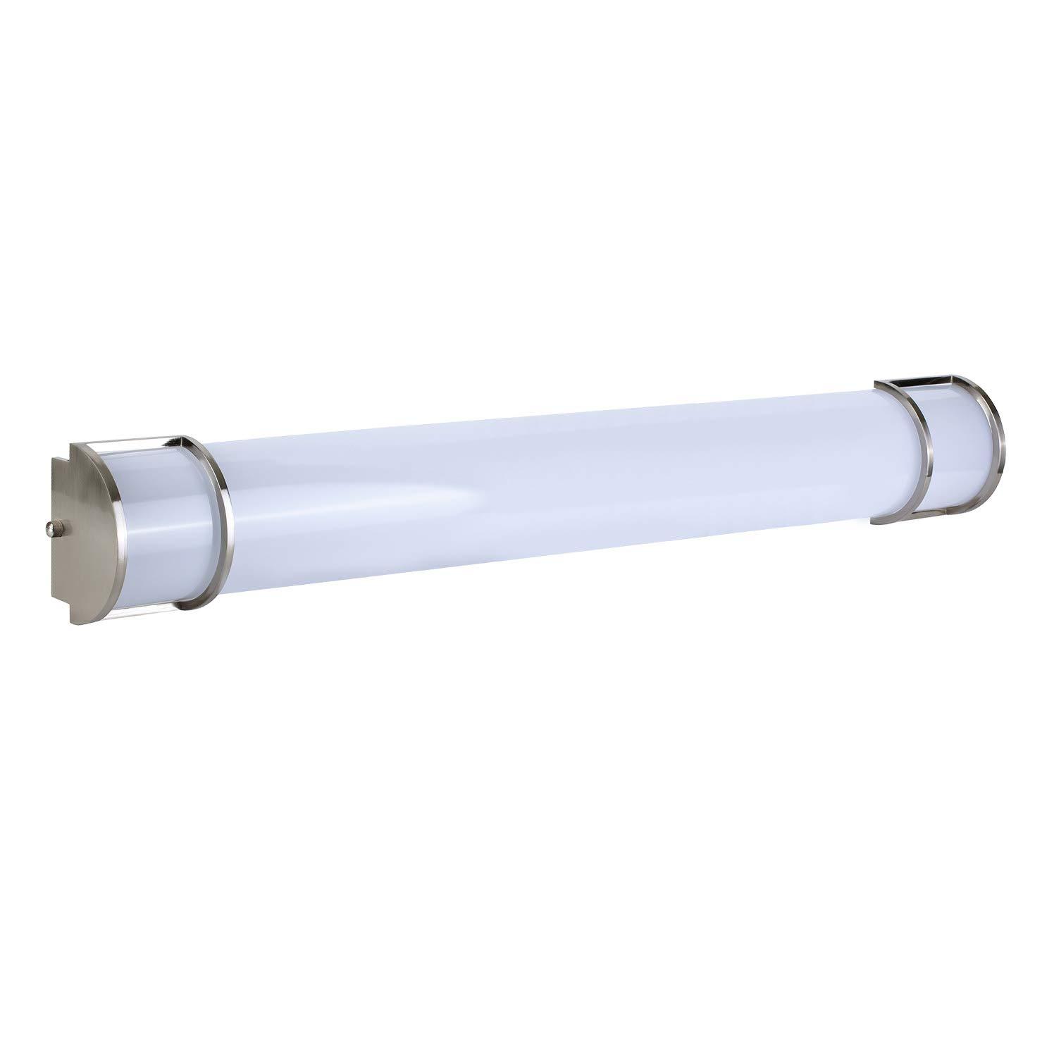 OSTWIN 48 Vanity Light Fixture Brushed Nickel, Led Vanity Lighting 35W 5000K Daylight, Large Size, Vertical or Horizontal Tube, Brushed Nickel Finish, ETL Energy Star Listed