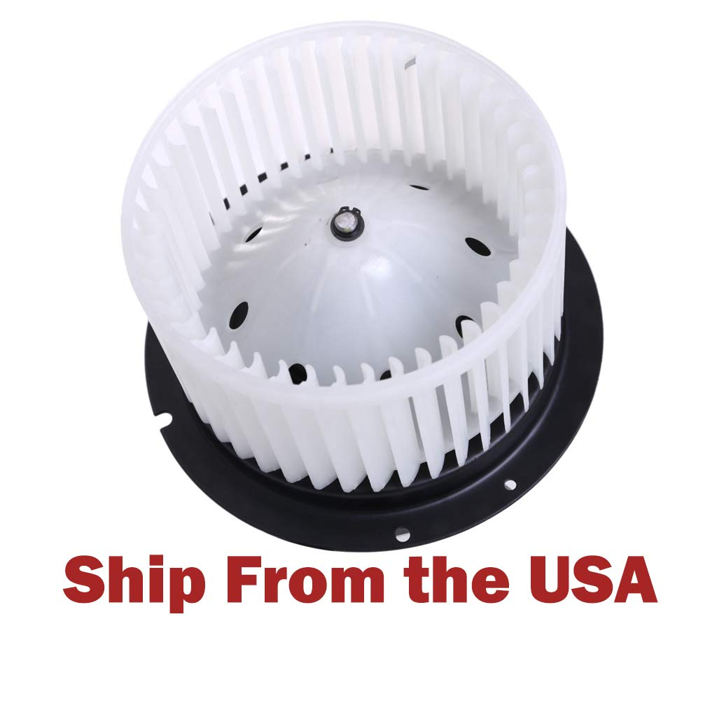 Heater A/C Blower Motor W/Fan Cage for Ford Supe-r F250 F350 F450 Duty 1999-2007 by Miklan