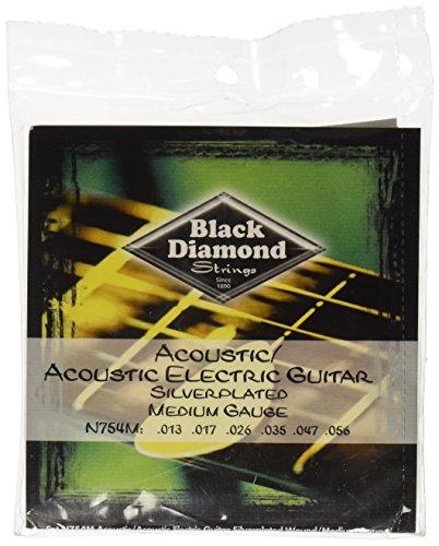 Black Diamond N754M Silverwound Acoustic Guitar Strings, ()