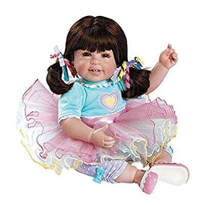 Adora ToddlerTime Sugar Rush Doll with Colorful Party Outfit, Pink Patent Shoes and Sparkly Tutu: Toys & Games