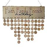 Baoblaze Faith Family Friends Birthday Reminder Calendar Home Party Door Wall Board
