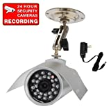 Cheap VideoSecu Outdoor Day Night Vision CCD Bullet Security Camera 24 IR Leds 420TVL 6mm Lens for CCTV DVR Home Surveillance System with Power Supply 3QS