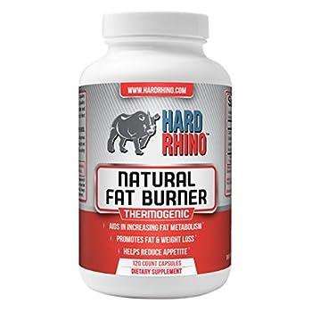 Hard Rhino Natural Fat Burner Capsules, 120 Vegetarian Capsules