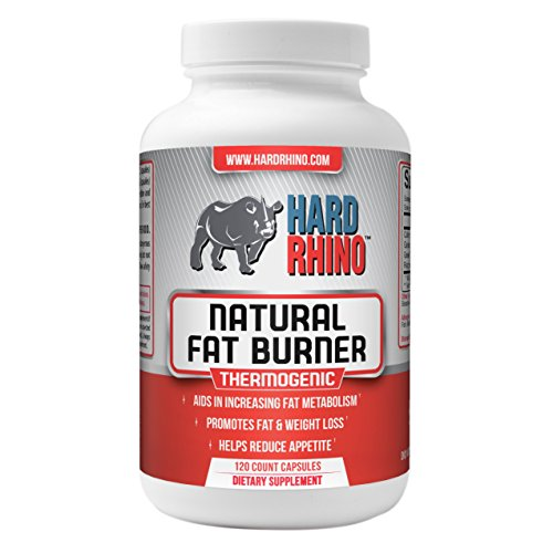 Burners Hard (Hard Rhino Natural Fat Burner Capsules, 120 Vegetarian Capsules)