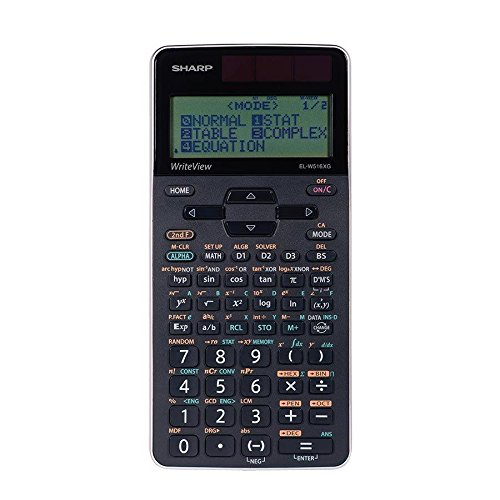 Sharp ELW516XGBSL Write View 422 Function 16 Digit 4 Line Scientific Calculator, Black