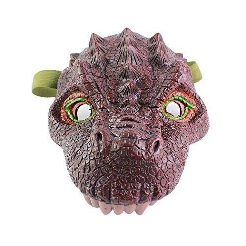 Coxeer Dinosaur Mask, Latex Animal Masks Scary Halloween Mask Masquerade Mask