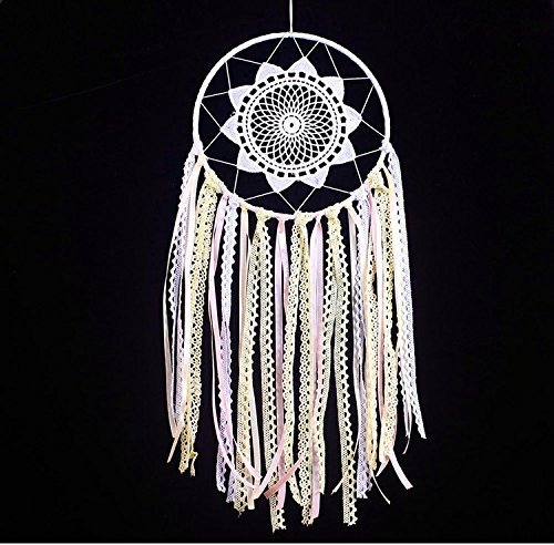 WaltzF Lace Dream Catcher Handmade ornament Wall and Car Decoration Gift