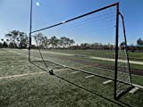 Vallerta® 24 x 8 Ft.Regulation Size Soccer Goal w/Weatherproof HDPE Net. 50MM Diameter Industrial Grade Black Powder Coated Galvanized Steel. Portable 8x24 Foot Training Aid(1Net)ONE YEAR WARRANTY!