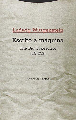 Descargar Libro Escrito A Máquina Ludwig Wittgenstein