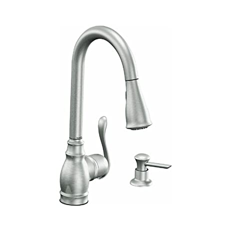 Moen Ca87003Srs Single Handle Kitchen Faucet With Pullout Spray