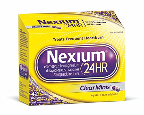 Nexium 24HR ClearMinis (20mg, 42 Count) Delayed Release Heartburn Relief Capsules, Esomeprazole Magnesium Acid Reducer, 38% Smaller Pill -