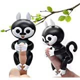Sawyou Interactive Baby Finger Squirrel Smart Electronic Pet Toy for Children, Induction Toys,Best Gift for Christmas (Black)