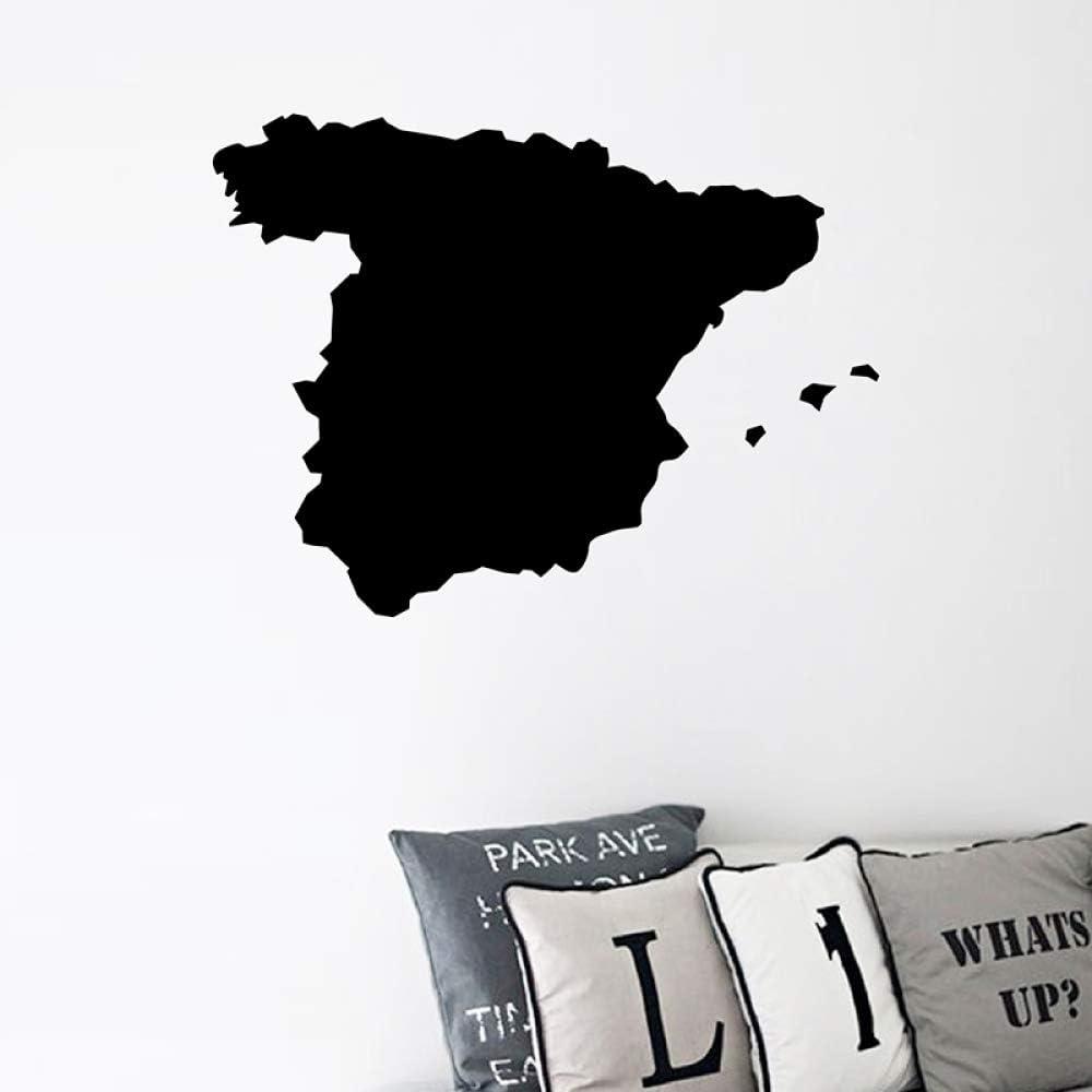 YuanMinglu España Mapa Silueta Vinilo Arte Pegatina hogar Pared ...