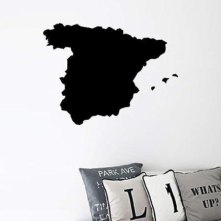 YuanMinglu España Mapa Silueta Vinilo Arte Pegatina hogar Pared decoración Negro 14x10cm: Amazon.es: Hogar