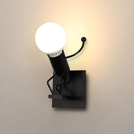 Applique Da Parete Led Creativo Moderna Lampada Da Parete Interno Industriale Applique E27 Per Soggiorno Camera Da Letto Corridoio Amazon It Illuminazione