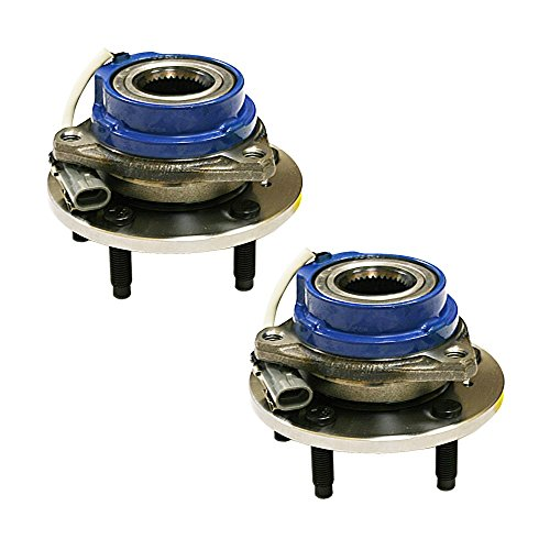 HU513121 x 2 (Set of 2) Brand New Wheel Bearing Hub Assembly Front Left and Right Side Fit 02-06 Buick RENDEZVOUS, 97-99 RIVIERA, 97-01 CADILLAC DEVILLE, 97-01 (Front Wheel Hub Set)