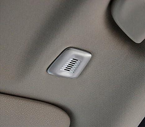 Chrome Interior Roof Dome Mic Cover Trim ABS Matte 2pcs BMX5