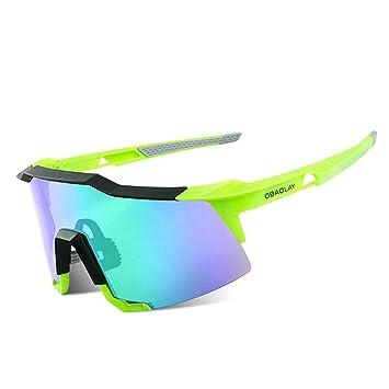LAIABOR Polarizadas Gafas Sol Outdoor, Intercambiables Lentes para Hombre Mujer Golf/Pesca/ Ciclismo