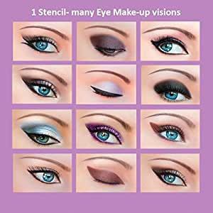 """ORIGINAL Quick Makeup Stencils 3 pcs. + Free Sample of""""Quick Eyeliner Stickies"""" 12 pcs. Eye Makeup Stencils Sticky Stickers Free Shipping"""