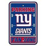 Fremont Die NFL New York Giants Plastic Parking Sign