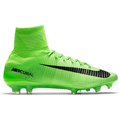 Nike Mercurial Superfly V FG Mens Football Boots 831940 Soccer Cleats (Uk 6.5 Us 7.5 Eu 40.5, Electric Green Black 305)