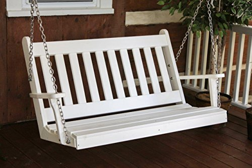 Outdoor POLY 4 Foot Traditional English Swing - Bright White