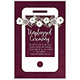 Burgundy Unplugged Wedding Ceremony Sign Poster