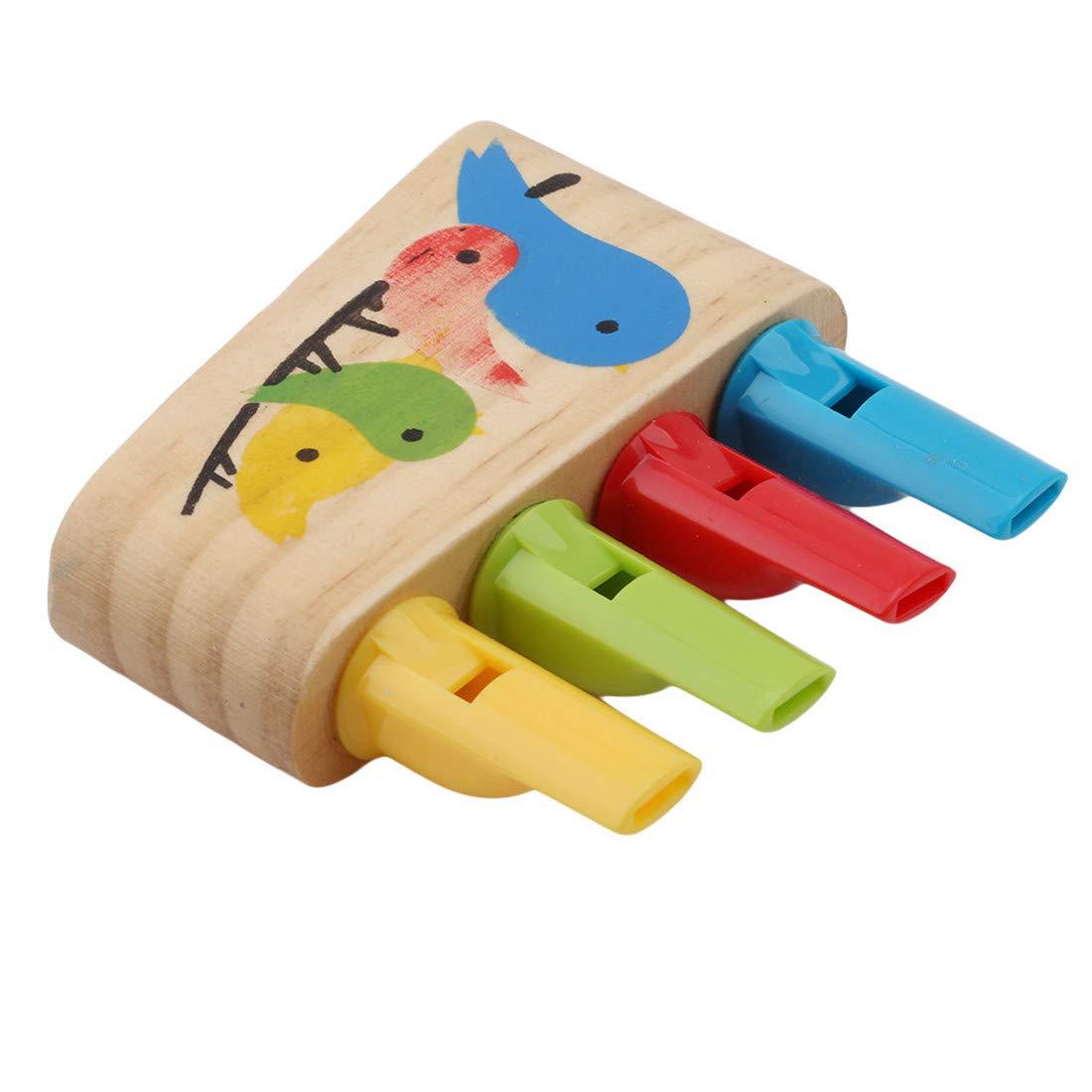 Yingwei VWH B/éb/é en Bois Jouets Arc-en-Panpipe Bois sifflet Oiseaux Whistling Multicolore Jouets Musicaux
