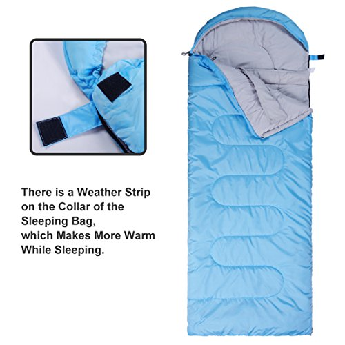 Emonia Camping Sleeping Bag,Three season.Waterproof Outdoor Hiking Backpacking Sleeping Bag Perfect for 20 Degree Traveling,Lightweight Portable Envelope Sleeping Bags for Adults,Girls and Boys by Emonia (Image #3)