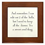 CafePress Street Cred Thing Framed Tile, Decorative Tile Wall Hanging