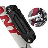 Fafada® Bike Foldable Lock Bicycle Cycling Portable Lock 3 Keys Alloy Steel Six Section Lock Black Anti Theft Locks & Security