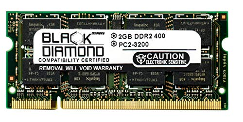 2GB RAM Memory for Everex Notebook VA1500V Black Diamond Memory Module DDR2 SO-DIMM 200pin PC2-3200 400MHz Upgrade - Everex Sodimm Memory