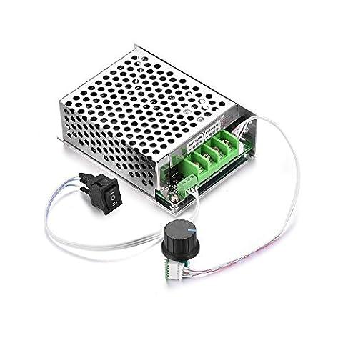 Aweking DC10-60V 12V 24V 36V 48V 30A Motor Speed Controller,PWM,Adjustable Driver,Max500W,LED Indicator,Reversing Switch,0%-100% Speed Controlling,Brush - 36 Volt Motor