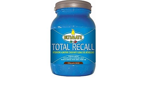 Amazon.com: Ultimate Total Recall Gusto Cacao Integratore Alimentare 700g: Health & Personal Care