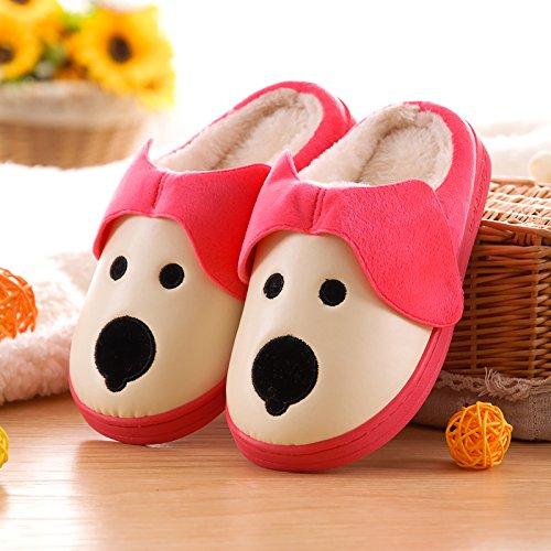 Fankou colore solido Jane inverno pantofole di cotone con dense e calde scarpe indoor ? soggiorno